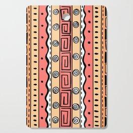Tribal Doodle Earth Rocks Mountains - Orange Cutting Board