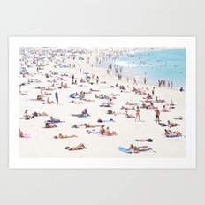 Bondi on a 40 Degree day Art Print