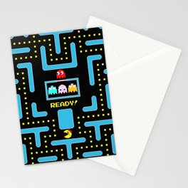 pac-man blue Stationery Cards