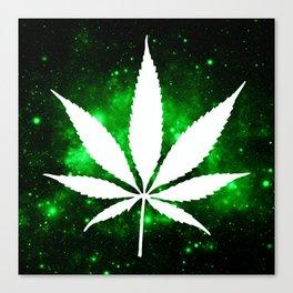Weed : High Times Green Galaxy Canvas Print