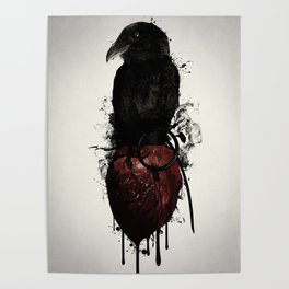 Raven and Heart Grenade Poster