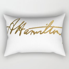 Alexander Hamilton Gold Signature Rectangular Pillow