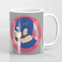 avenger Mugs featuring The First Avenger by Art of Tyler Newcomb