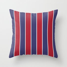 Large Red White and Blue USA Memorial Day Holiday Vertical Cabana Stripes Throw Pillow