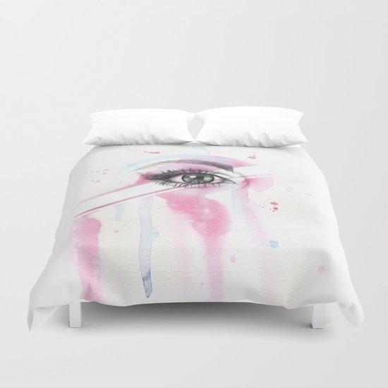 pink eye Duvet Cover