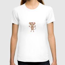 female monkey with flower T-shirt