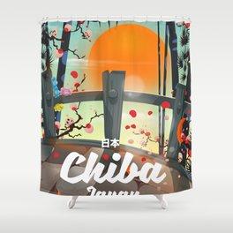 Chiba Japan travel poster Shower Curtain
