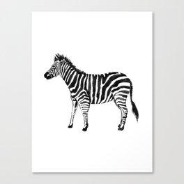 Zebra Illustration (Watercolor) Canvas Print