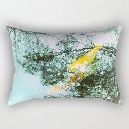 Koi Aqua Water Ornamental Fish Aquatic Gardens Rectangular Pillow