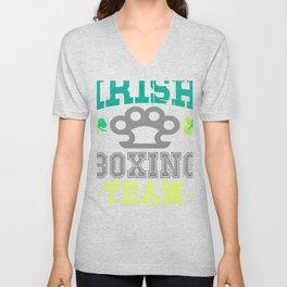 Irish Boxing Team Brass Knuckles Unisex V-Neck