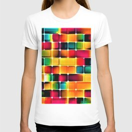 Abstract Colors in Grid by Jeanpaul Ferro T-shirt