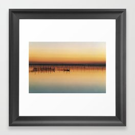 Sunset in Venice Lagoon Framed Art Print