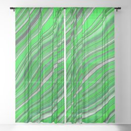 Wild Wavy Lines 33 Sheer Curtain