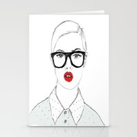 nerd Stationery Cards featuring Nerd by Panxy_Art
