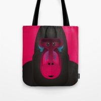 gorilla Tote Bags featuring Gorilla by Alejandro de Antonio Fernández