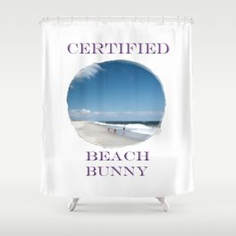 Certified Beach Bunny Shower Curtain