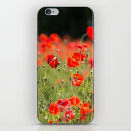 Poppy Meadow iPhone Skin