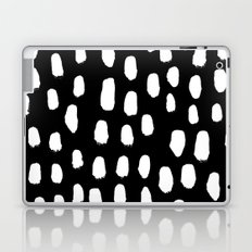 Spots black and white minimal dots pattern basic nursery home decor patterns Laptop & iPad Skin