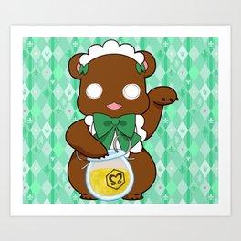 Lily Bear Lulu Art Print