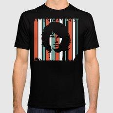 American Poet Morrison Jim Retro Homage Mens Fitted Tee Black MEDIUM