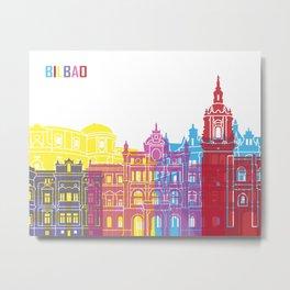 Bilbao skyline pop Metal Print