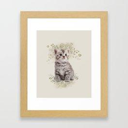 Cute Cat Framed Art Print