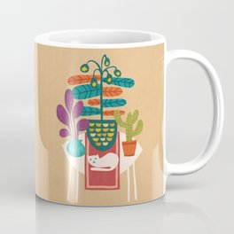 Indoor garden with cat Coffee Mug