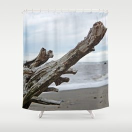 Natural Driftwood Shower Curtain