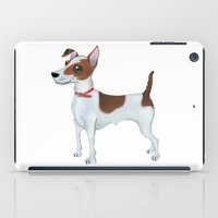 jack russell iPad Cases featuring Jack Russell Terrier by Cathy Brear
