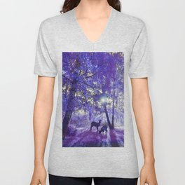 Deer In Another Light Unisex V-Neck
