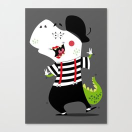 T-Rex Mime Canvas Print