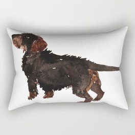 watercolor dog vol3 dachshund Rectangular Pillow