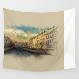 St. Petersburg, Moika river embankment. Wall Tapestry