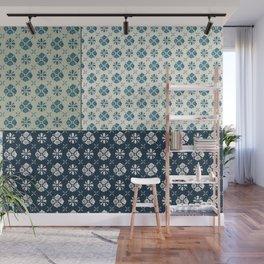 Vintage Tiles #society6 #pattern #indigo Wall Mural