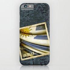 Grunge sticker of Uruguay flag iPhone 6s Slim Case