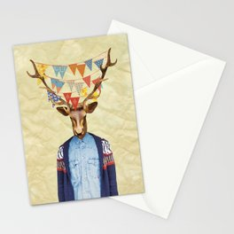 Elk Person Stationery Cards