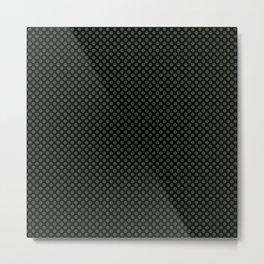 Black and Duffel Bag Polka Dots Metal Print