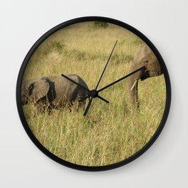Elephant family Wall Clock