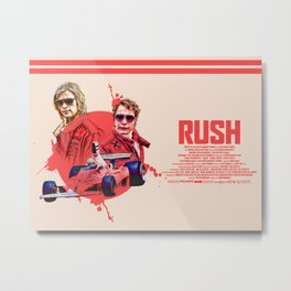 Rush (2013) Long Alternative Movie Poster Metal Print