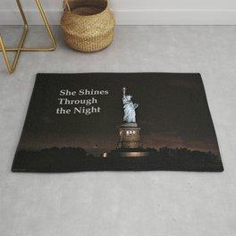 She Shines Through the Night Rug