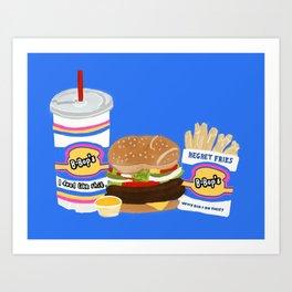 B-Bop's Art Print
