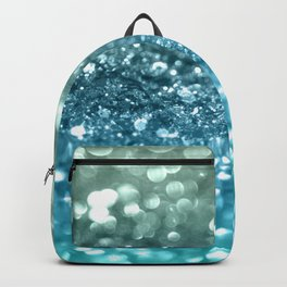 Seafoam Aqua Ocean MERMAID Girls Glitter #4 #shiny #decor #art #society6 Backpack