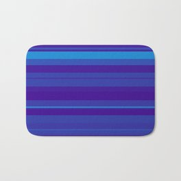 minimalistic horizontal stripes pattern gmbti Bath Mat