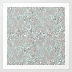 Zig-zag modern geometry circles Art Print