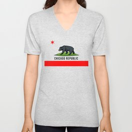 Chicago Republic (Black Bear 2) Unisex V-Neck