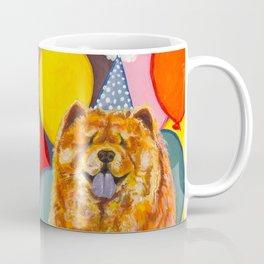 Chow Chow with Balloons Coffee Mug
