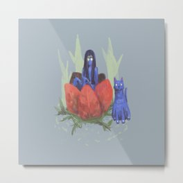 fairy and kitten Metal Print