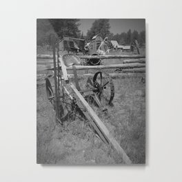 Ghost Town Tractor Metal Print