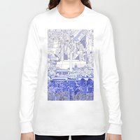washington dc Long Sleeve T-shirts featuring washington dc city skyline by Bekim ART