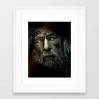 lotr Framed Art Prints featuring Gandalf the Grey. (LOTR Fan Art) by Davide Fiume